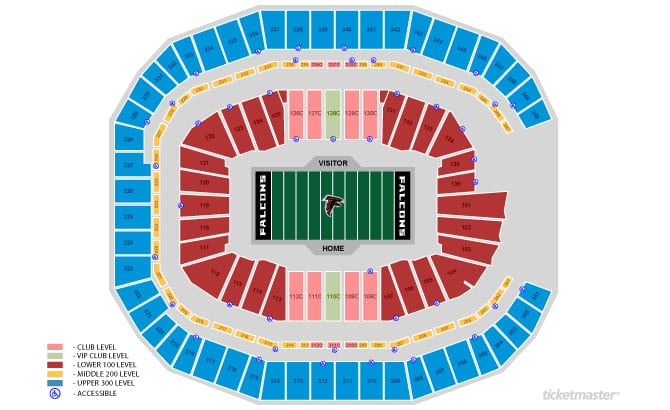 Seating charts mercedes benz stadium for Mercedes benz stadium suite prices